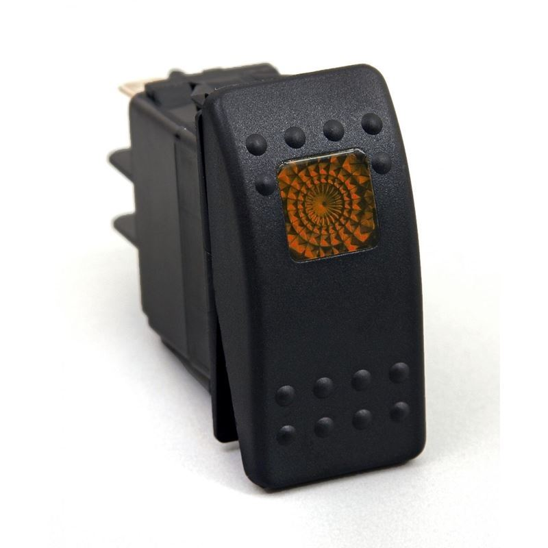 Rocker Switch Amber Light 20 AMP Single Pole