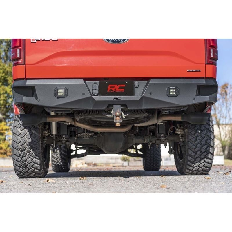 Dual Cat-Back Exhaust System w/Black Tips 15-20 F-